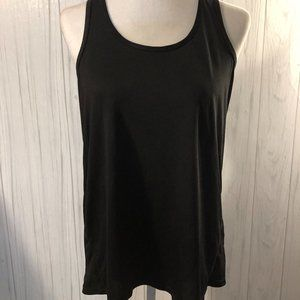 Danskin Now Black Racerback Top Size Large